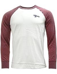 Hommes Tokyo Laundry Fremont Baie Haut Manches Longues Raglan Designer Baseball Haut T-shirt