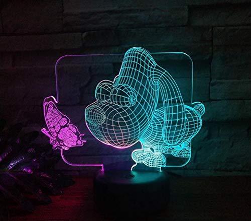 Große Kopf Hund Led 3D Bunte Nacht Lichter Touch Usb Wiederaufladbare Lichter Party Dekoration Kinderzimmer Beleuchtung Geschenke -