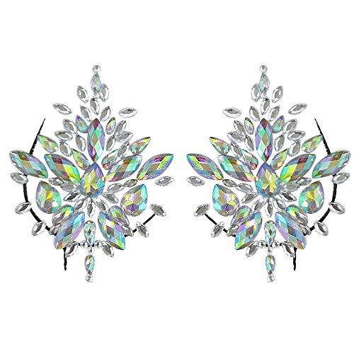 u Brust Edelsteine   Glitter Body Jewels Strass Gesicht Körper Schmuck Aufkleber(C,One size) ()
