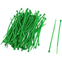 TOOGOO(R)100 Pcs Verde Plastico Cable Cremallera Lazo Sujete Envuelva 3x100mm