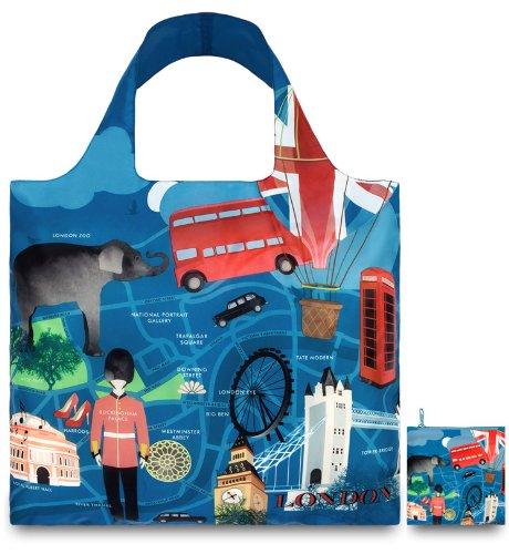 LOQI URBAN London Bag - Einkaufstasche (Tote Reisen Begleiter)
