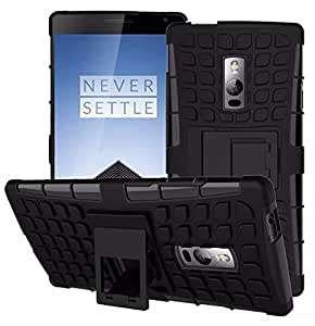 OnePlus Two One Plus 2 Cover - Hybrid Rugged Dual Layerprotection [Shock Proof] Tough Armor [Drop Protection] Back Cover Case with Built-in Kick stand / Two One Plus 2 Cover