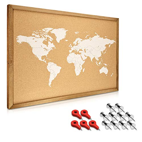 Navaris tablero notas corcho - Tablero marco madera