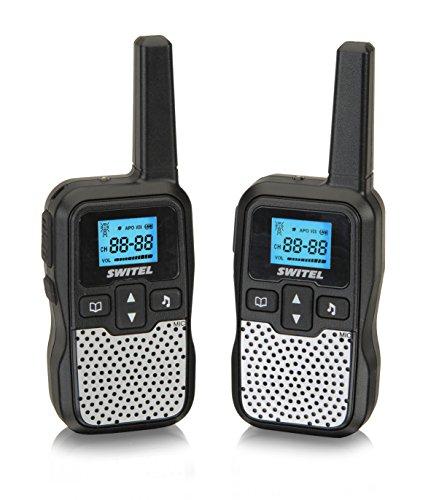 Switel WTE2320 Funkgeräte-Set mit beleuchtetem Display und Taschenlampe schwarz