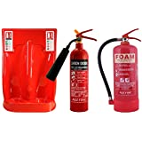 Budget Deal - 2kg CO2 Fire Extinguisher & 6 Litre Foam Fire Extinguisher with Double Stand & ID Signs