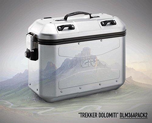 Pair of Suitcases 36Litre Aluminum Side Trekker Dolomiti dlm36apack