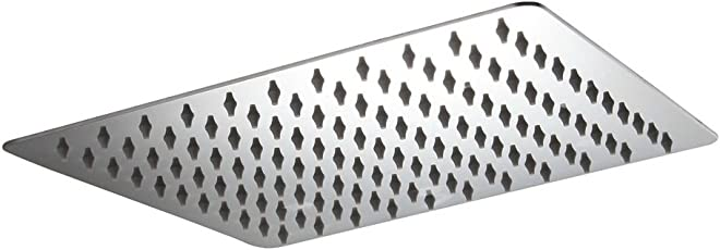 AAI Ultrathin Stainless Steel Shower Head 12X12 inches
