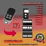 X2 4330E, 4332E, 4333E, 4335E,4330EML, 4332EML, 4333EML, 4335EML,HE4331 Kompatibel handsender ersatz