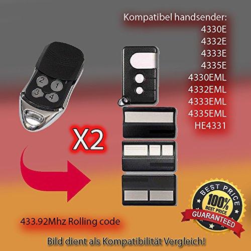 X2 4330E, 4332E, 4333E, 4335E,4330EML, 4332EML, 4333EML, 4335EML,HE4331 Kompatibel handsender ersatz Liftmaster Security Gate