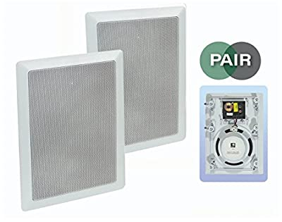 "E-audio White 6.5"" 2-Way 120W In-Wall Speaker With Driver and Tweeter (PAIR) from Unbranded"