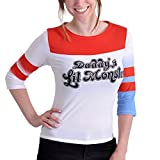 Pullover Longsleeve manches longues Suicide Squad Harley Quinn coton rouge blanc - XL