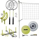 Franklin Sports Fun 5 Combo Set - Badminton - Volleyball - Ring Toss - Flip Toss - Flying Disc