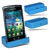 Spyrox (Baby Blue)Samsung S8600 Wave 3 Micro Desktop USB Charging Dock Mount Stand