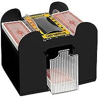 Geschenkbox Elektrische Kartenmischmaschine, batteriebetrieben, für 4 Oder 6 Decks
