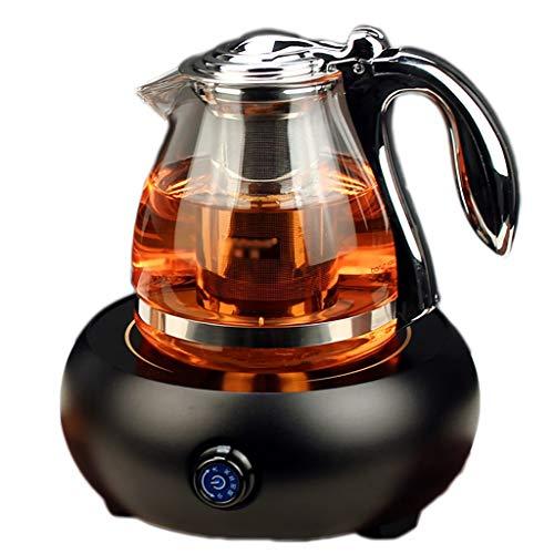 Calentadores eléctricos de cerámica Tetera Tetera de Vidrio Resistente al Calor Tetera doméstica dedicada (Color : A)