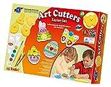 Feuchtmann Spielwaren 6285389 - Art Cutters Easter Set, 320 g Modelliermasse und 4 Formen, 15-teilig