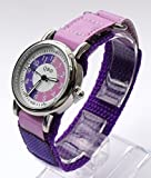 105034CC Girls Learn to tell the Time Watch with Purple / Lilac Dial and Purple Velcro Strap