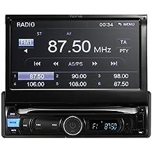 TUVVA ksn78121DIN para coche Car Transporter auduio con pantalla táctil de 7pulgadas, MHL funda para conectividad, Bluetooth/USB/SD/AV IN/MP3/MP4/AM/FM Receptor (no CD/reproductor de DVD)