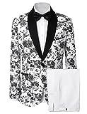 Lilis® Herrenmode Kleid Floral Anzug Schal Revers Slim Fit Stilvolle Blazer & Hosen
