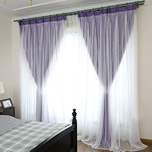 Pp&dd tende oscuranti,doppio strato matrimoniale drappo termica isolata tende tenda readymade,per camera da letto salotto una fetta-g 200x270cm(79x106inch)