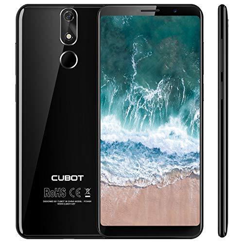 Cubot Power 4G-LTE Dual SIM Smartphone ohne Vertrag, 5.99 Zoll (18: 9) FHD+ Touch Display mit 6000 mAh Akku, 6GB Ram+128GB Rom, 20MP Hauptkamera/13MP Frontkamera, Android 8.1 2.5GHz Octa-Core,Schwarz - 6 Gb Ram