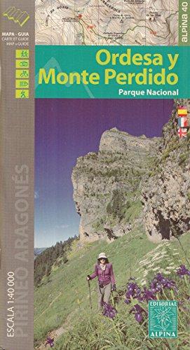 Alpine National Park (Ordesa und Monte Perdido National Park (Spanien, Pyrenäen) 1:25.000 Topographische Wanderkarte ALPINA)