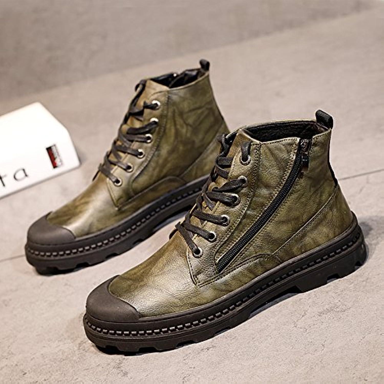 HL-PYL-hombres zapatos altos Martin botas zapatos All-Match Calzado casual zapatos de hombre en Europa,41,verde
