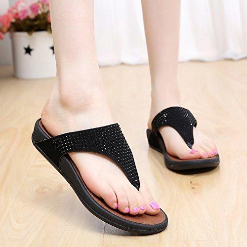 Donne sandali Pantaloni donna Summer Comfort Casual Flat Heels Scarpe da passeggio Scarpe da spiaggia di temperamento Confortevole ( Colore : #3 , dimensioni : EU38/UK5.5/CN38 ) #1