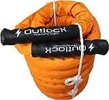 battle rope 9/12/15 m ∅ 3,8 cm in dynamic Orange exclusives Model Fitness Profi Training Ausdauer Kondition
