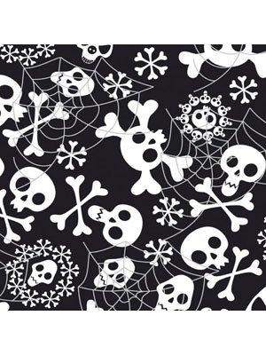 Folat Generique 20 Halloween-Servietten - Totenköpfe - schwarz/Weiss