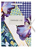 Vintage Teas Braids and Blooms Sheet Drawer Liners, Multi-color, Pack of 6