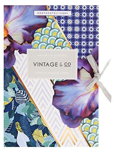 Vintage Co Tresses et fleurs pour tiroir (6 feuilles).