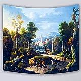 jtxqe Peinture à l'huile HD Multi-Fonction Tapisserie tenture Murale Tapisserie 6 130x150cm