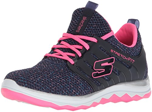 Skechers Mädchen Diamond Runner Laufschuhe, Blau (Navy/hot Pink), 32 EU (Glamour Hot Mädchen)