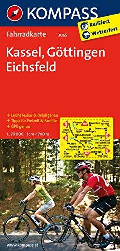 Kassel - Göttingen - Eichsfeld: Fahrradkarte. GPS-genau. 1:70000: Fietskaart 1:70 000 (KOMPASS-Fahrradkarten Deutschland, Band 3065)