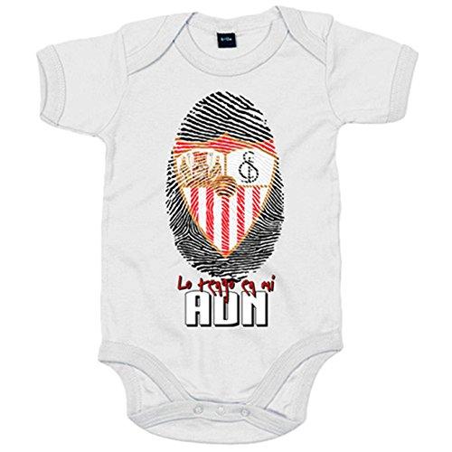 Body bebé Sevilla FC lo tengo en mi ADN - Blanco, 6-12 meses