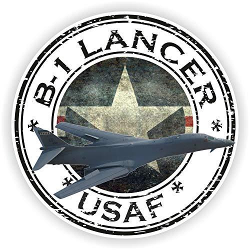 Tiukiu USA B-1 Lancer USAF U.S.A.F. Militärsiegel Aufkleber rund Flagge für Laptop Buch Kühlschrank Gitarre Motorrad Helm Werkzeugkasten Tür -