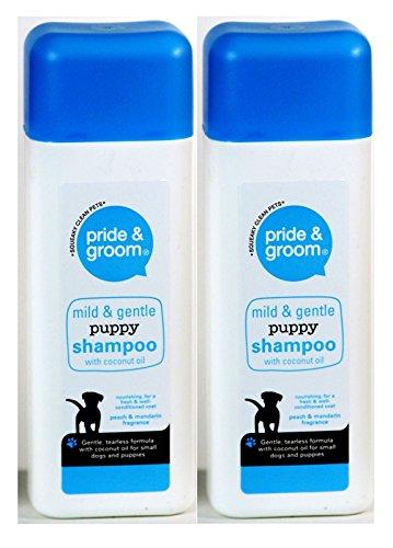 Puppy Shampoo Mild & Sanft Pride & Groom Pfirsich & Mandarin 400ml mit Coconut oil (Puppy Hundeshampoo)