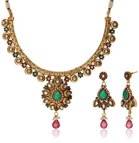 Bentex Kundan Necklace Set For Women nkk0031 image - Kerala Online Shopping
