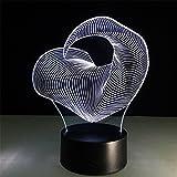 Heller Bunter Licht-Gradient 3D Farbenreiches Nachtlicht LED-Visuelles Stereolicht