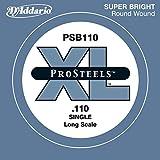 D\'Addario Corde seule pour basse D\'Addario ProSteels PSB110, corde longue, .110