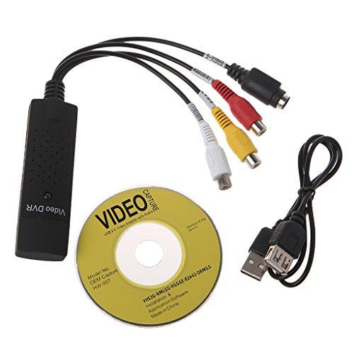 JunYe Adaptador Tarjeta Captura Video USB 2.0 TV DVD