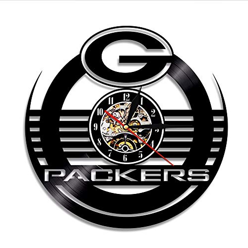 szhao Green Bay Packers Pittsburgh Steelers Seattle Seahawks Dallas Cowboys Baltimore Ravens Football Team Vinyl Record Wall Clock