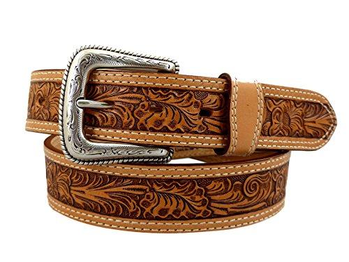 Nocona USA Western Gürtel Floral Tooling Cowboy Cowgirl 40 (Nocona Cowboy Gürtel)