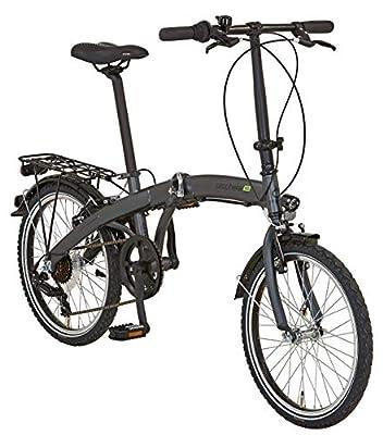 """Prophete Unisex– Erwachsene GENIESSER 9.1 City Bike 20"""" Cityfahrrad, anthrazit matt, RH 30 cm"""