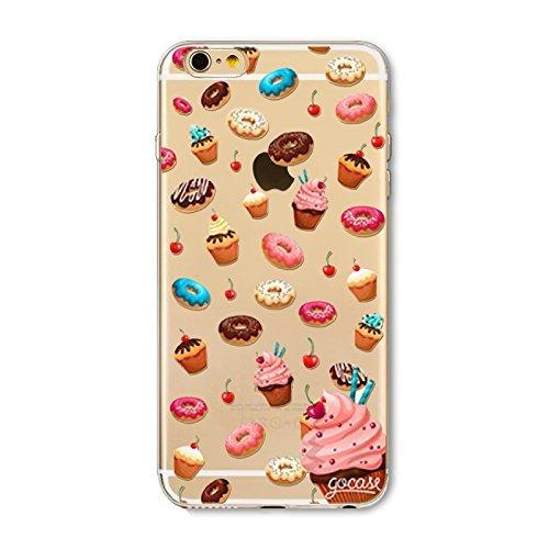 Coque iPhone 6 Plus 6s Plus Housse étui-Case Transparent Liquid Crystal en TPU Silicone Clair,Protection Ultra Mince Premium,Coque Prime pour iPhone 6 Plus 6s Plus-Beignet et de la glace-style 3 10