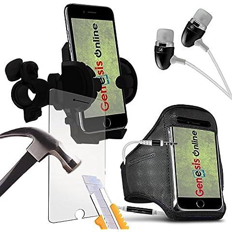 Google Pixel regolabile fascia da braccio per sport Indoor e Outdoor, corsa, palestra, Zumba, Cover Holder Con In-Ear Stereo Vivavoce Cuffie auricolari per telefono cellulare by Genesis
