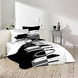 Douceur d'Intérieur Versus–Juego de funda nórdica y 2fundas de almohada, de algodón, multicolor, algodón, multicolor, 260 x 240 cm