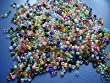 The Bead and Button Box - 75g Rainbow Mix of Seed Beads. 11/0 - 2mm. Great for jewellery making, sewing, embroidery, pottery and numerous other crafts.