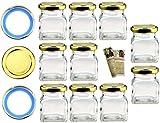 Flaschendiscount 20 leere eckige Einmachgläser